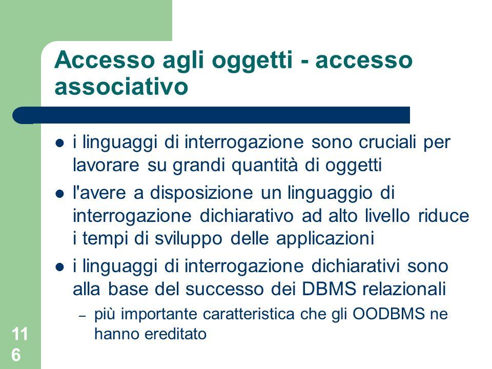 Accesso agli oggetti - accesso associativo