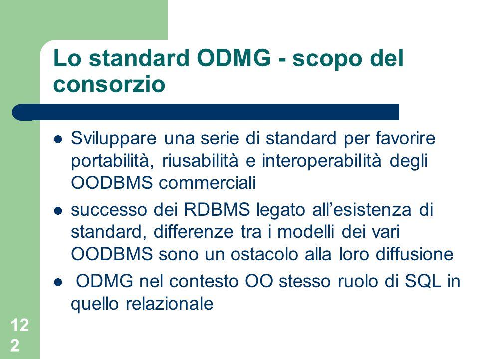 Lo standard ODMG - scopo del consorzio