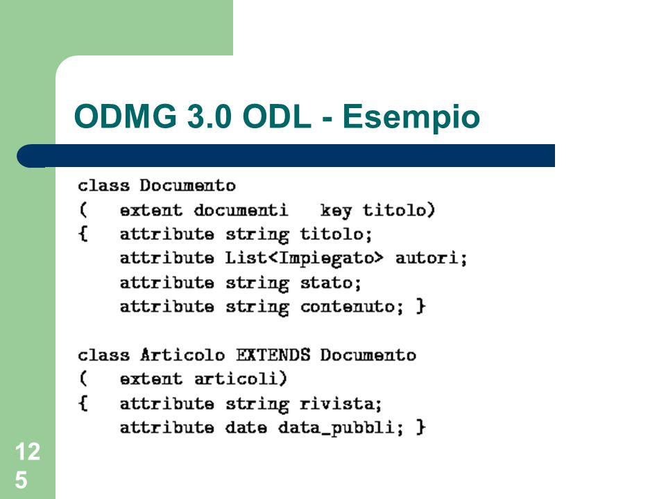 ODMG 3.0 ODL - Esempio