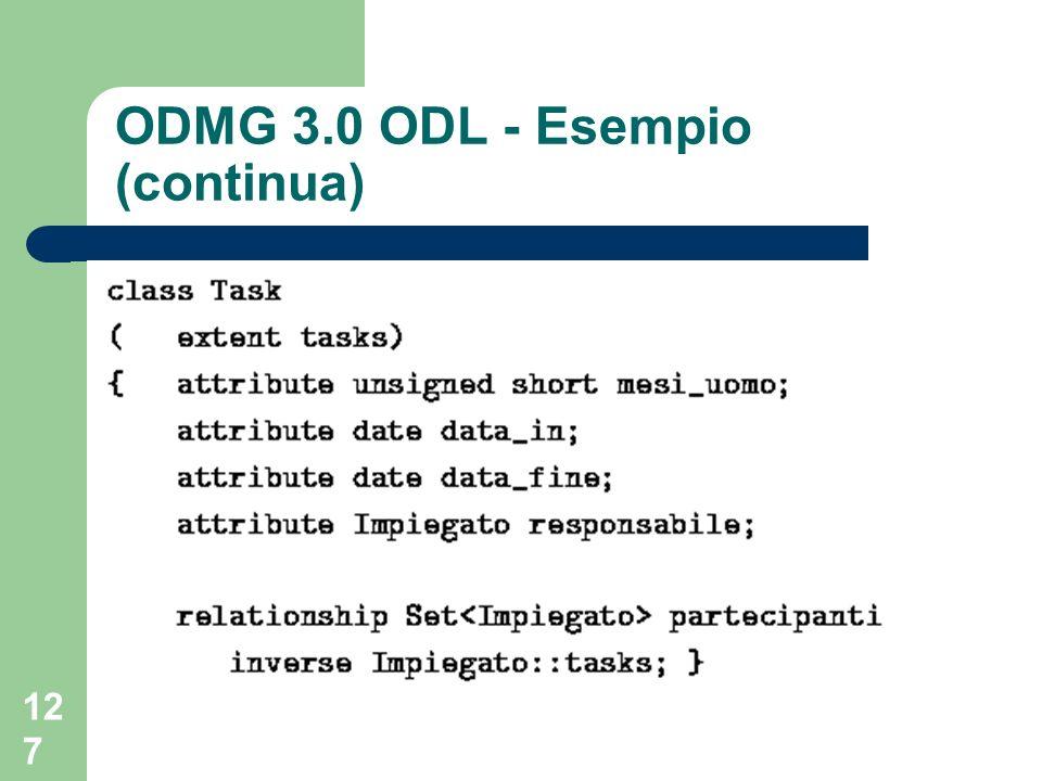 ODMG 3.0 ODL - Esempio (continua)