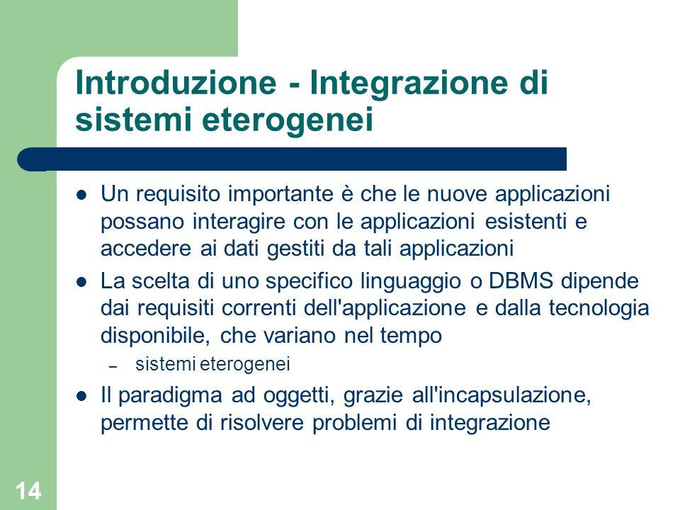 Introduzione - Integrazione di sistemi eterogenei