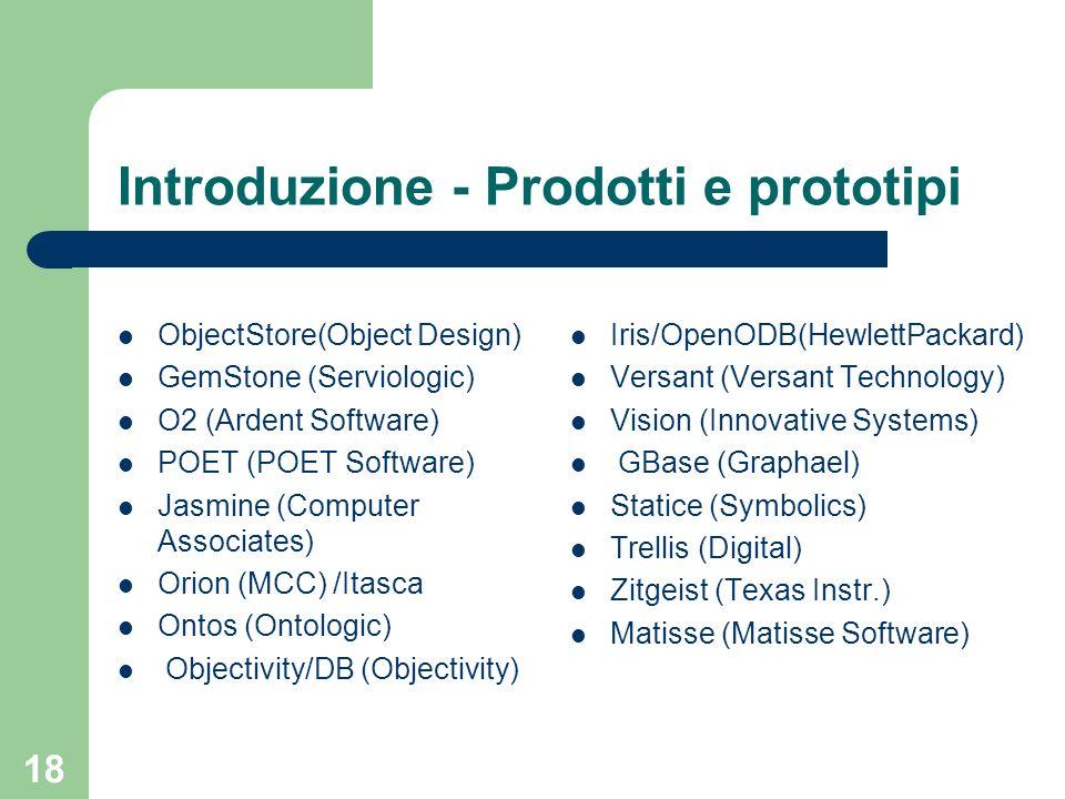 Introduzione - Prodotti e prototipi