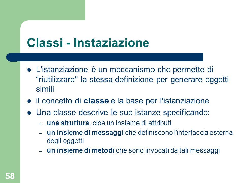 Classi - Instaziazione