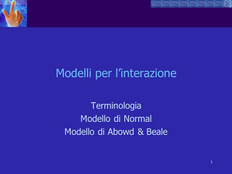 Modelli per l'interazione