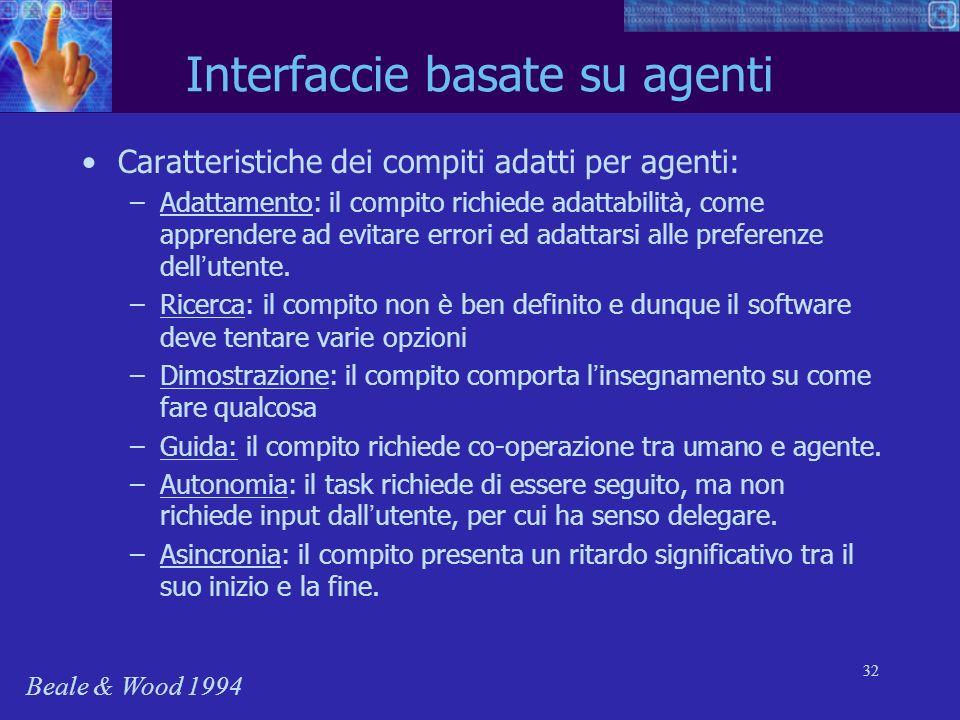 Interfaccie basate su agenti