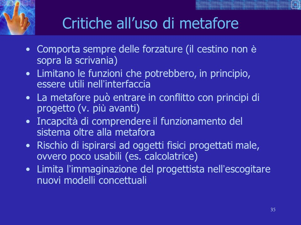 Critiche all'uso di metafore