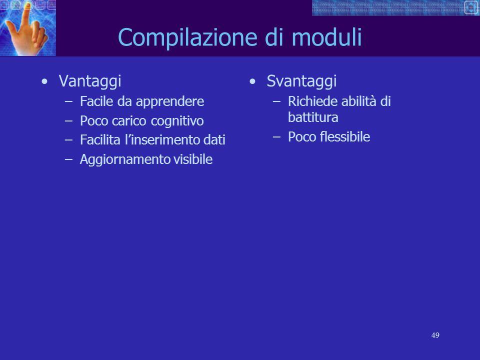Compilazione di moduli