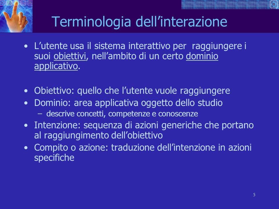 Terminologia dell'interazione