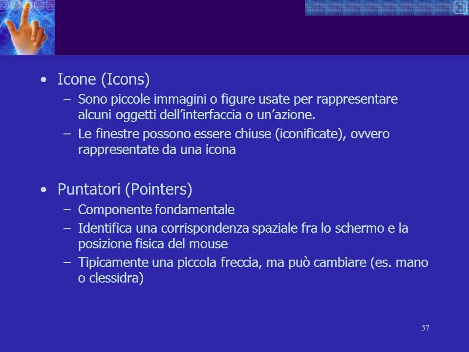 Icone (Icons) Puntatori (Pointers)