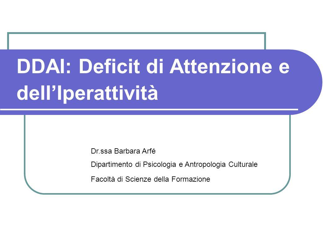DDAI: Deficit di Attenzione e dell'Iperattività