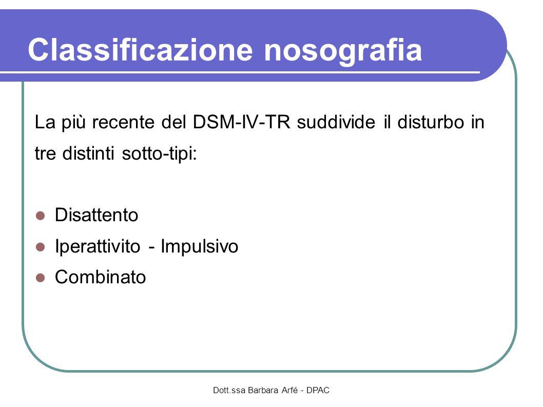 Classificazione nosografia