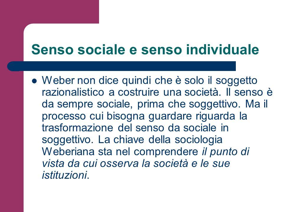 Senso sociale e senso individuale