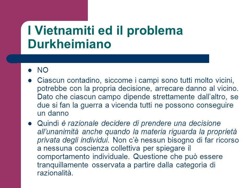 I Vietnamiti ed il problema Durkheimiano