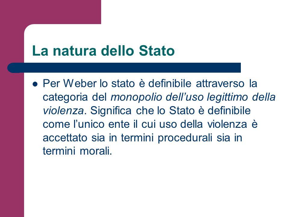 La natura dello Stato