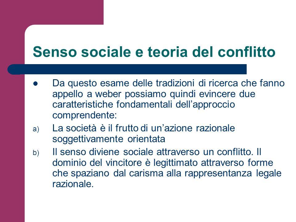 Senso sociale e teoria del conflitto