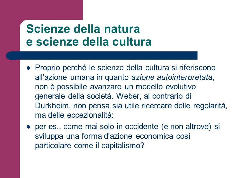 Scienze della natura e scienze della cultura