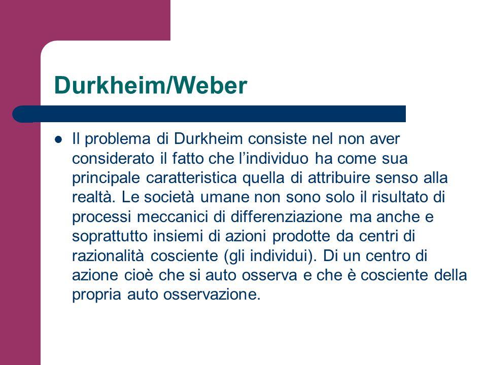 Durkheim/Weber