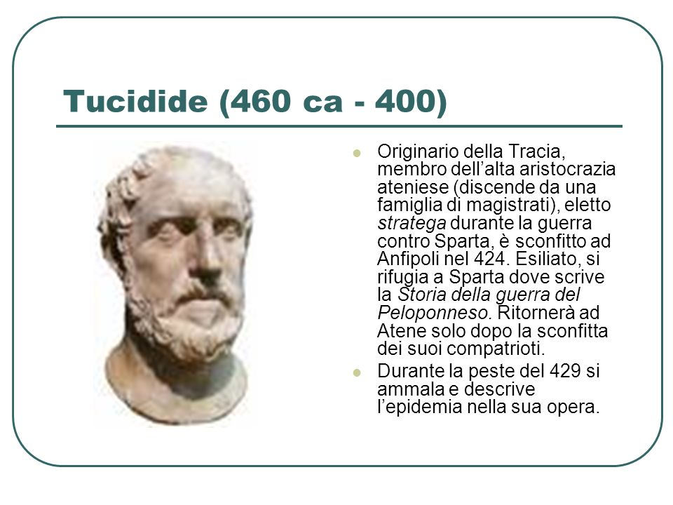 Tucidide (460 ca - 400)