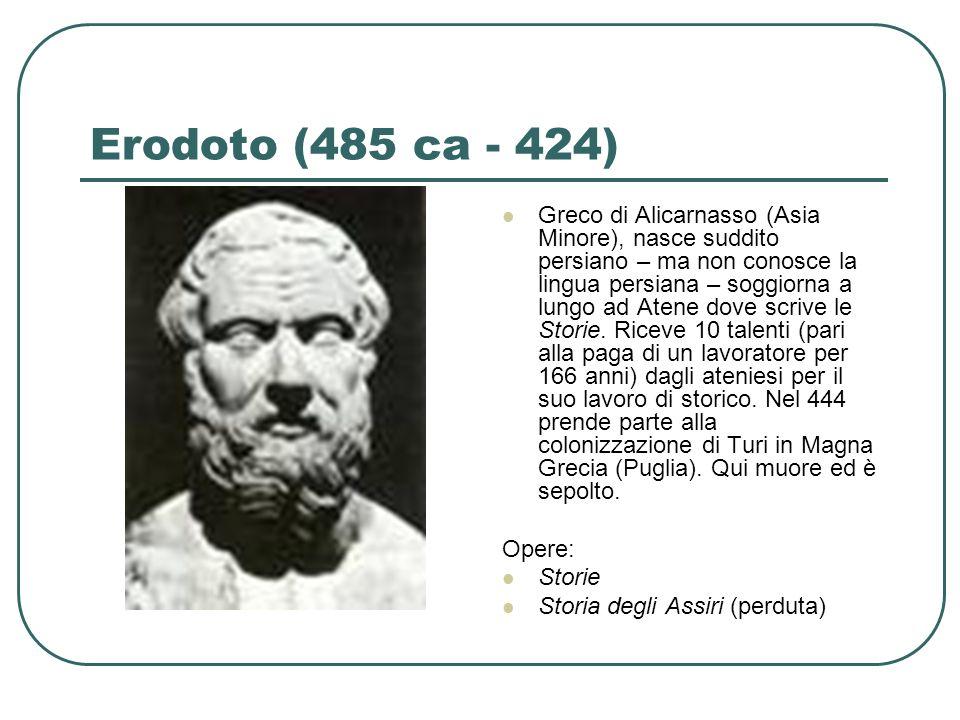 Erodoto (485 ca - 424)