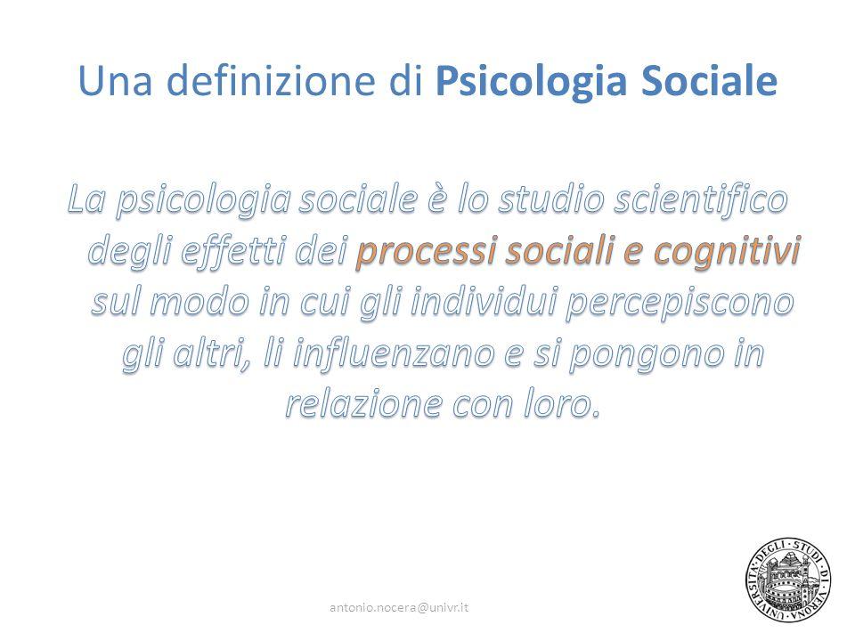 Una definizione di Psicologia Sociale
