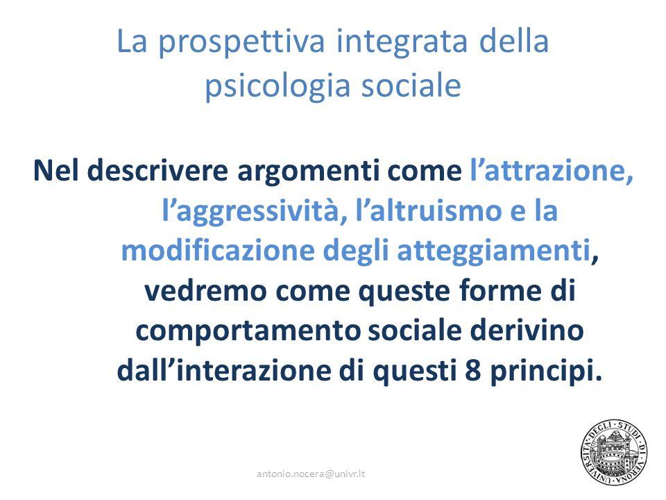 La prospettiva integrata della psicologia sociale