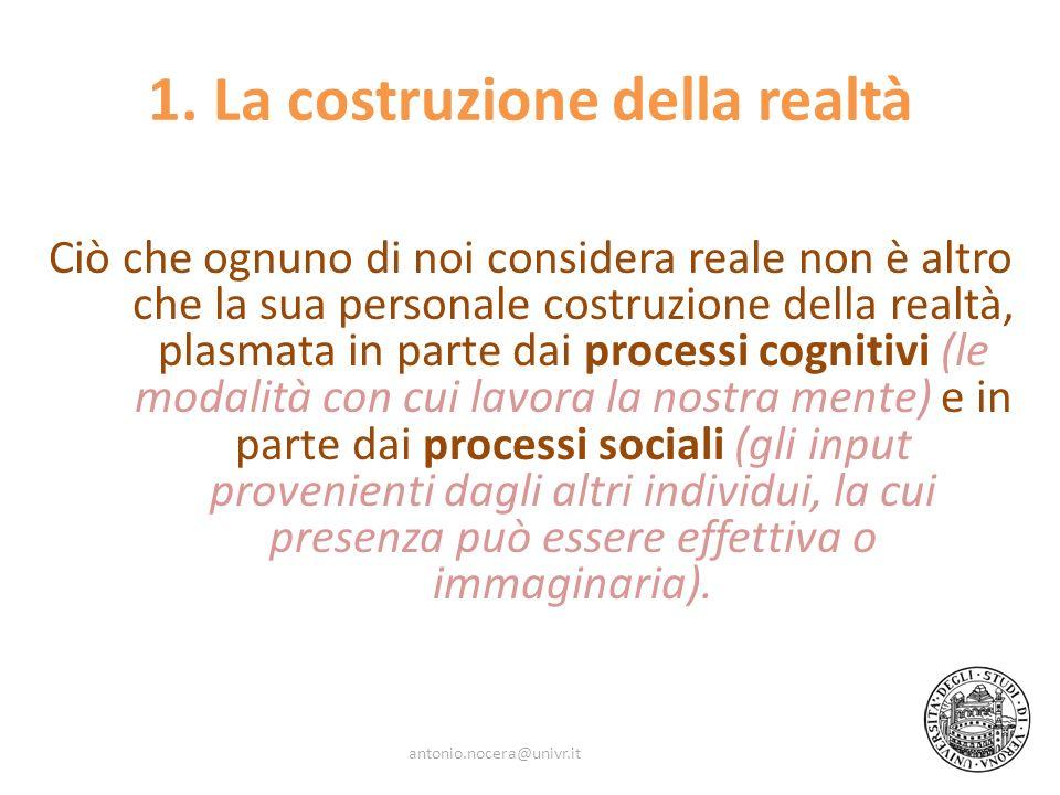 1. La costruzione della realtà