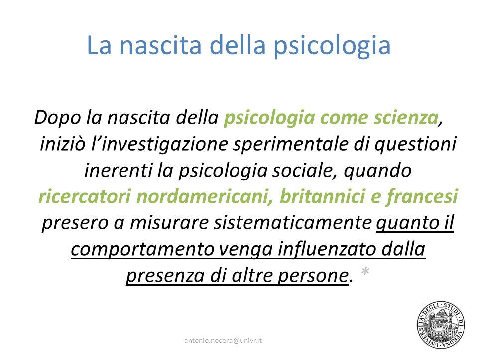 La nascita della psicologia