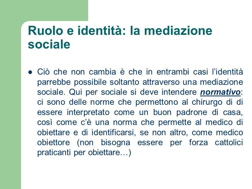 Ruolo e identità: la mediazione sociale