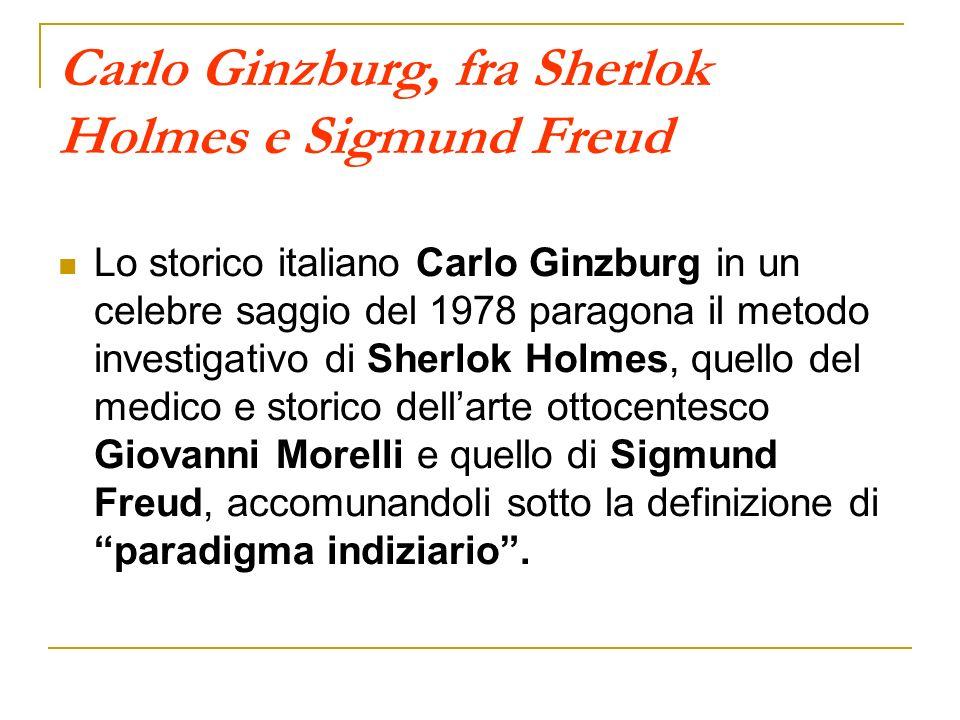 Carlo Ginzburg, fra Sherlok Holmes e Sigmund Freud