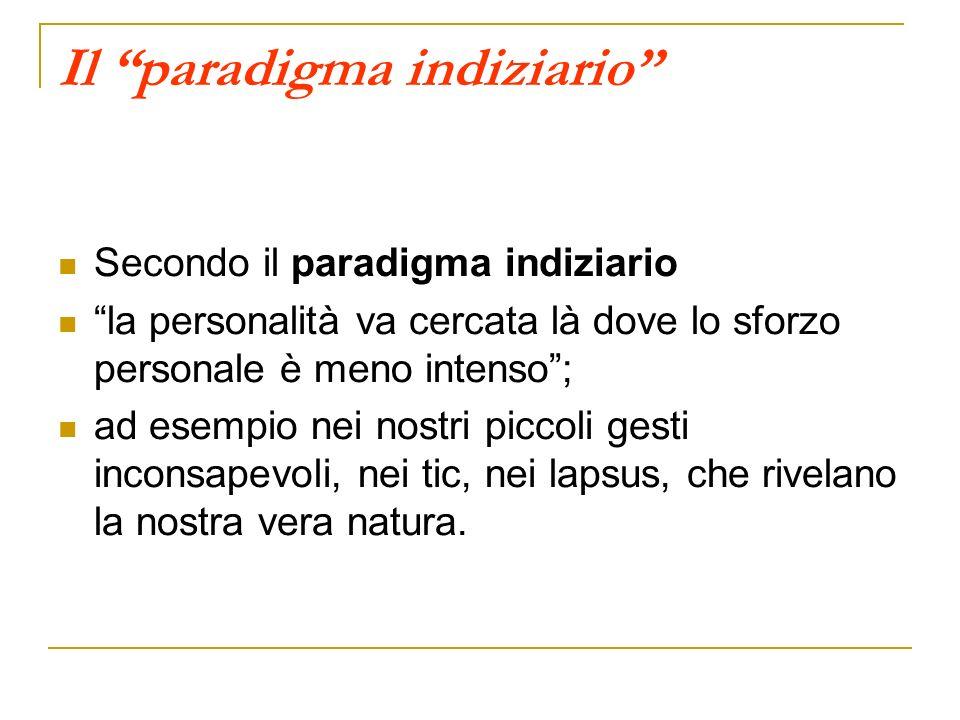 Il paradigma indiziario