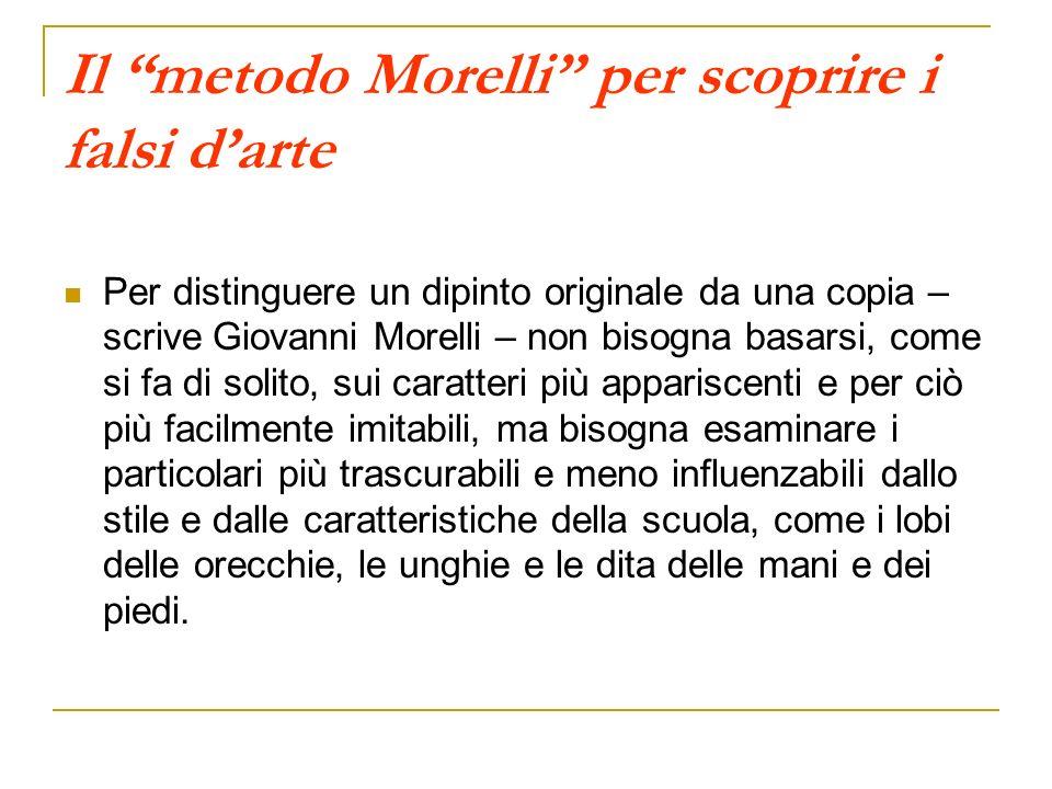 Il metodo Morelli per scoprire i falsi d'arte