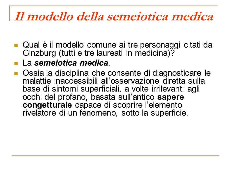 Il modello della semeiotica medica