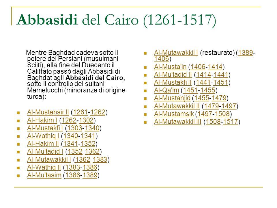 Abbasidi del Cairo (1261-1517)