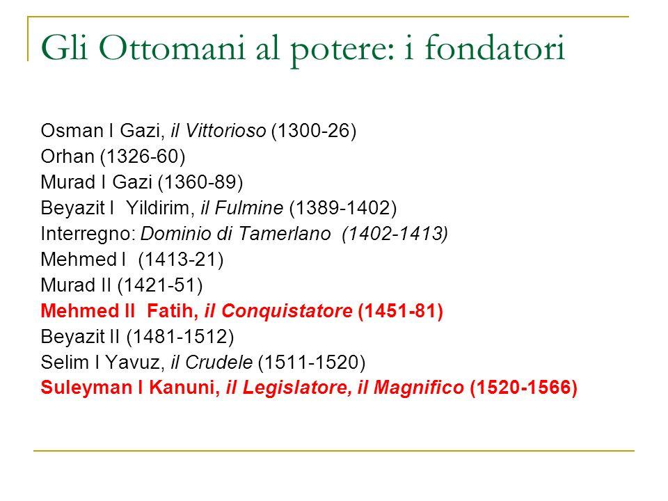 Gli Ottomani al potere: i fondatori