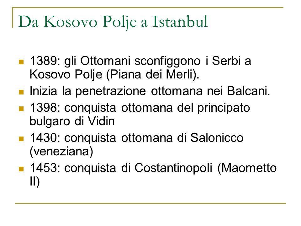 Da Kosovo Polje a Istanbul