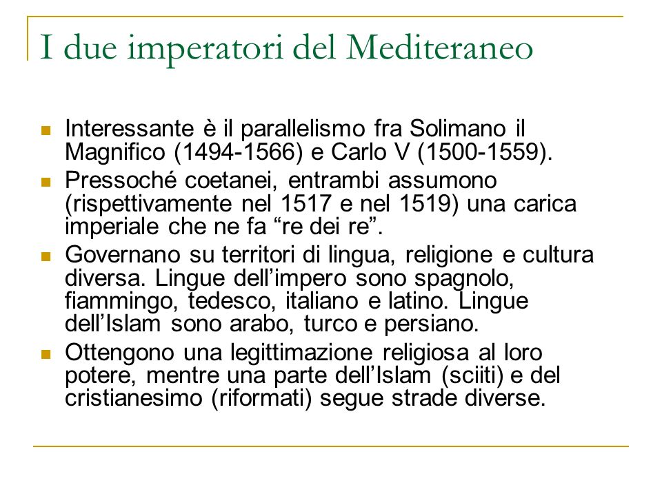 I due imperatori del Mediteraneo