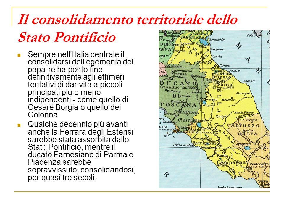 Il consolidamento territoriale dello Stato Pontificio
