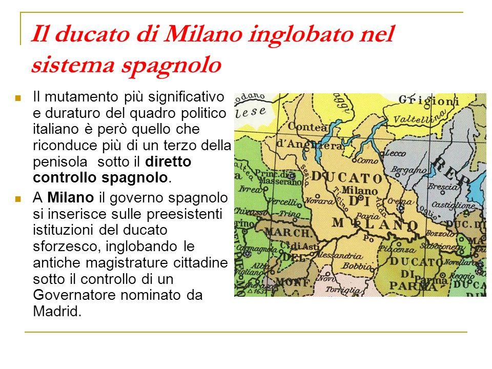 Il ducato di Milano inglobato nel sistema spagnolo