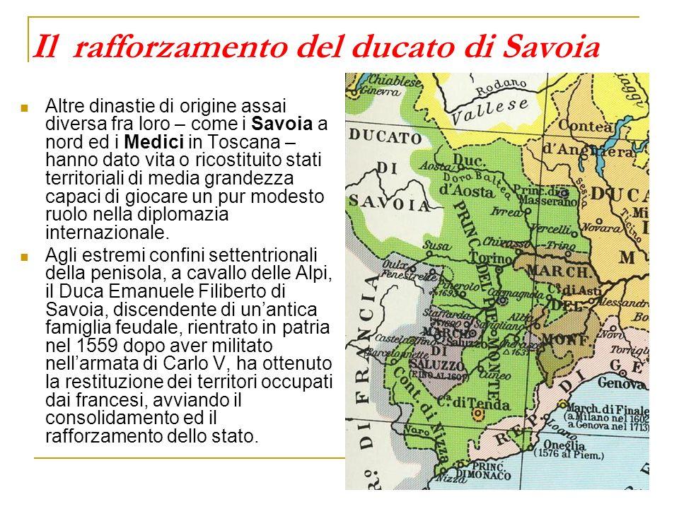 Il rafforzamento del ducato di Savoia