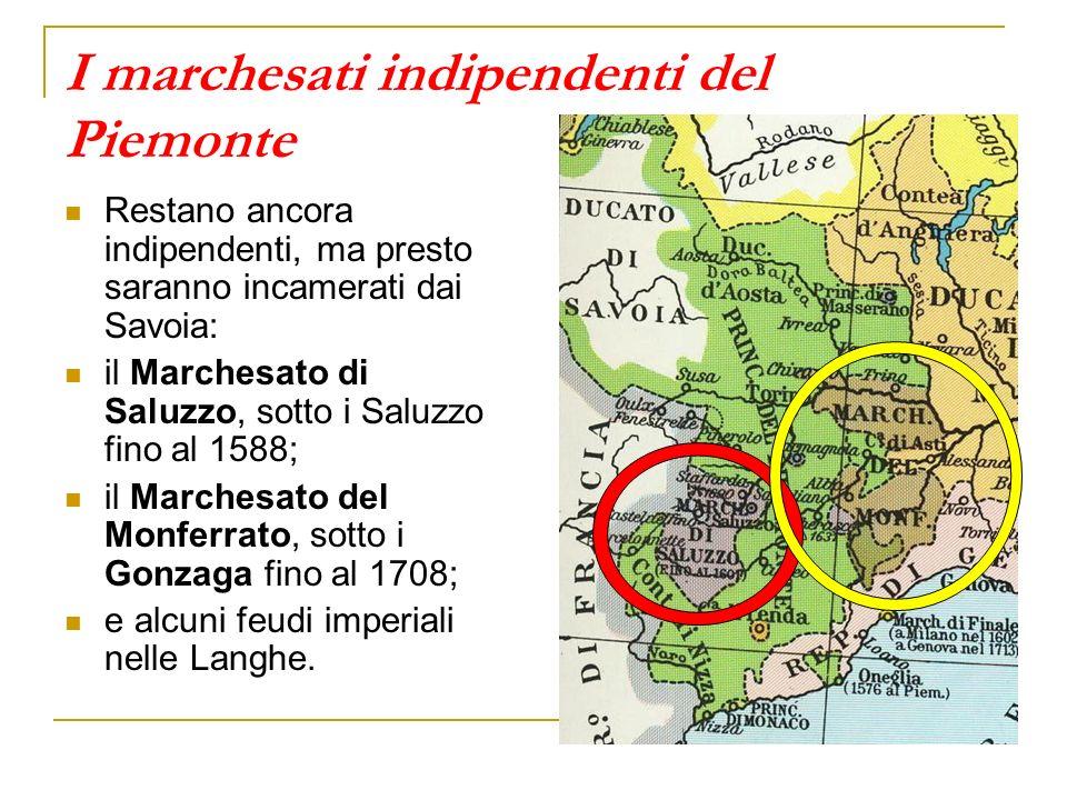 I marchesati indipendenti del Piemonte