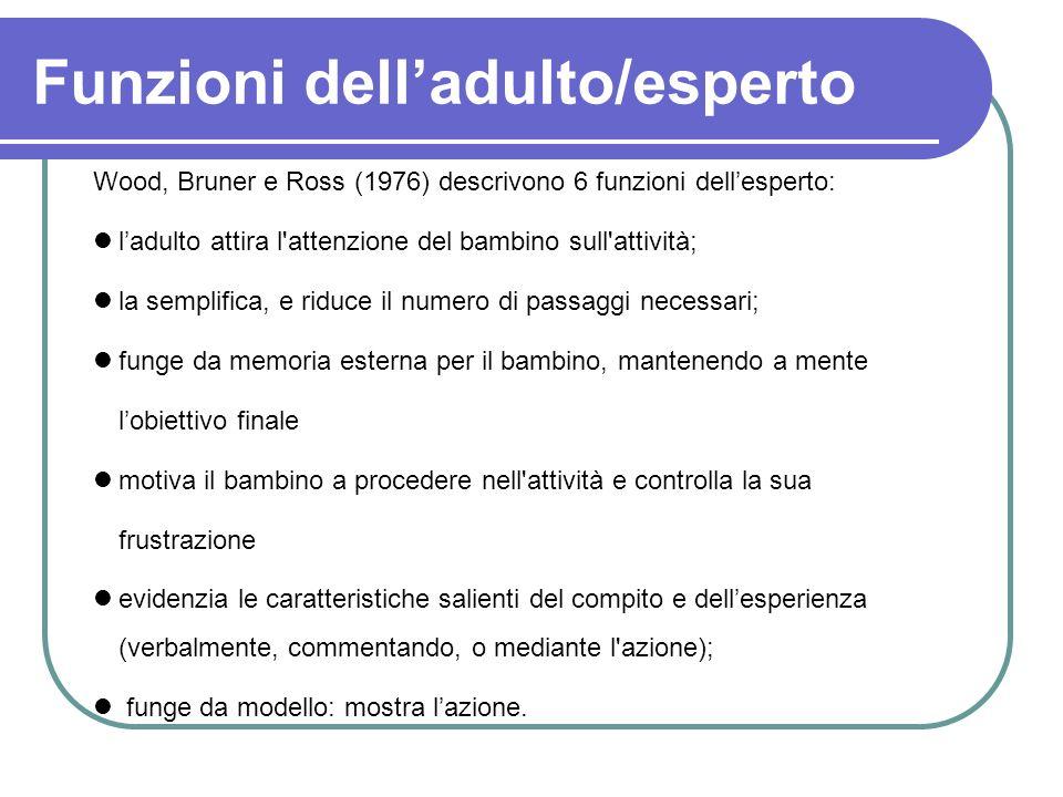 Funzioni dell'adulto/esperto
