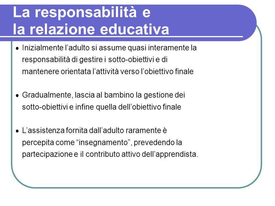 La responsabilità e la relazione educativa