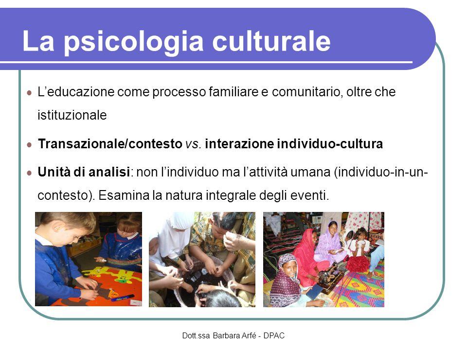 La psicologia culturale