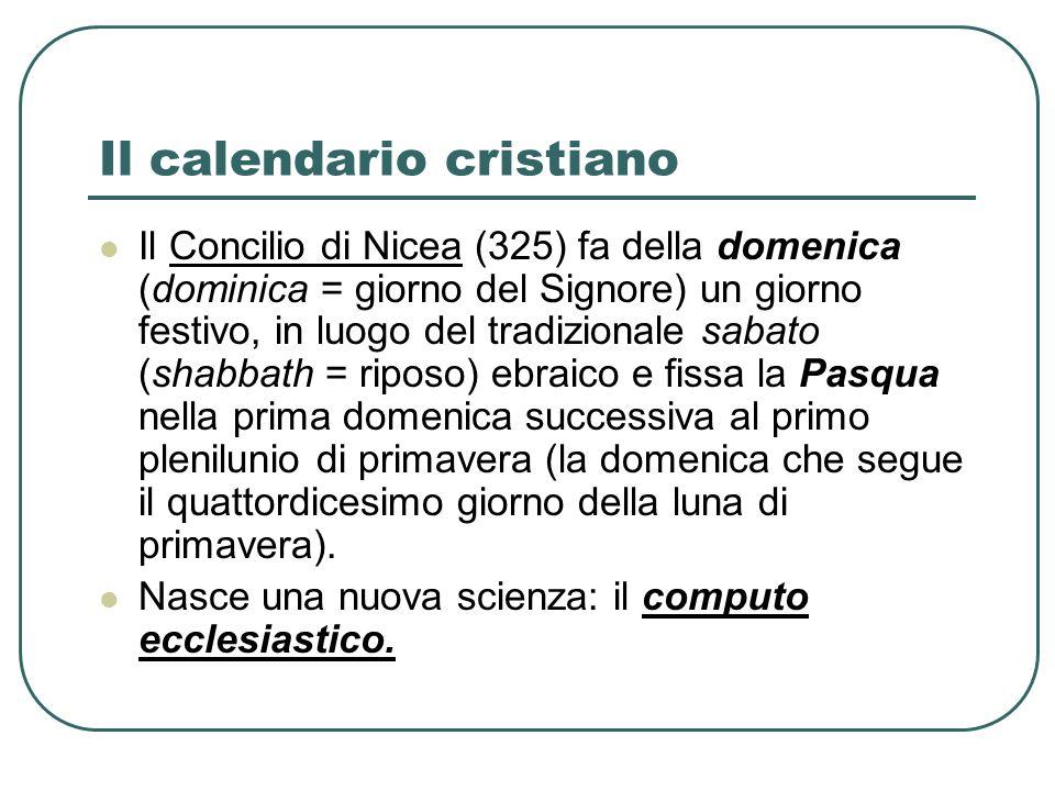 Il calendario cristiano