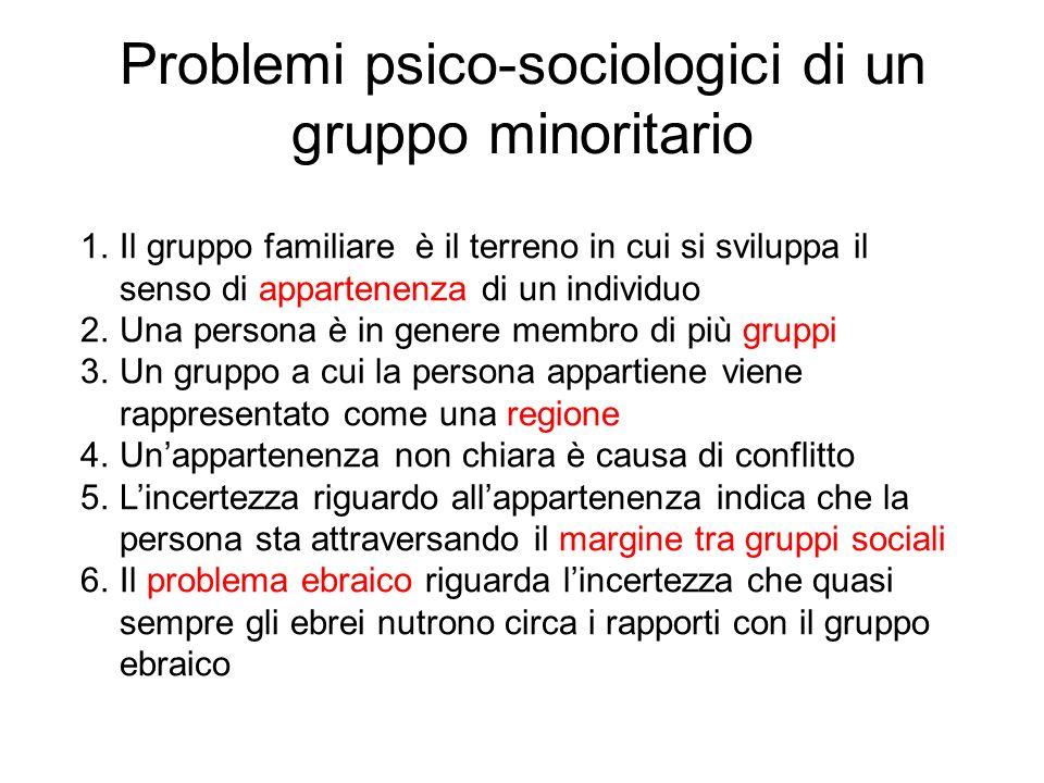 Problemi psico-sociologici di un gruppo minoritario