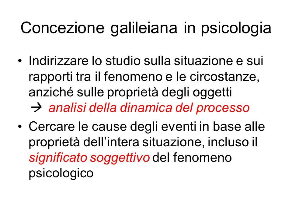 Concezione galileiana in psicologia