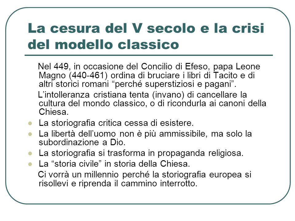 La cesura del V secolo e la crisi del modello classico