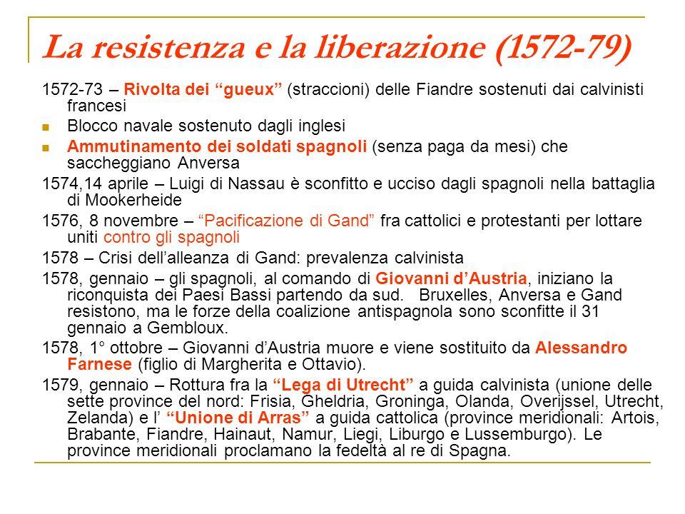 La resistenza e la liberazione (1572-79)