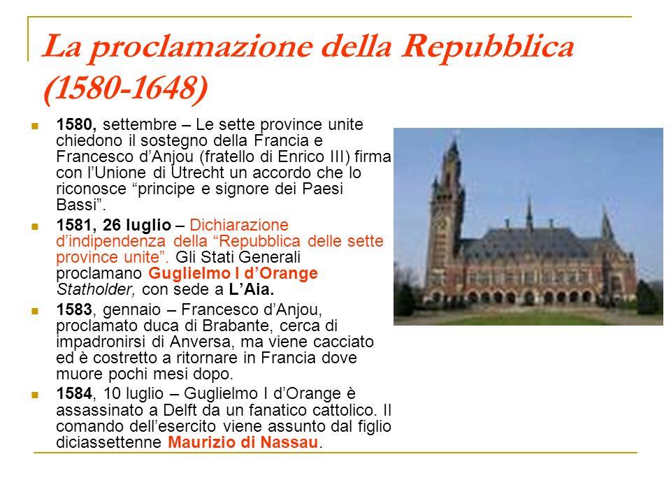 La proclamazione della Repubblica (1580-1648)