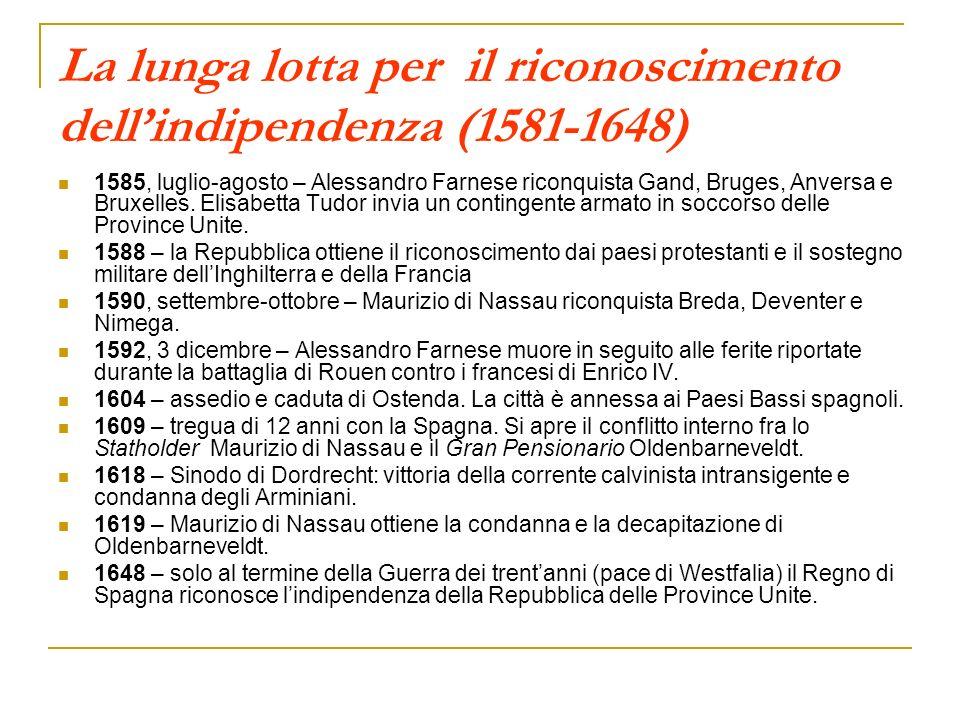 La lunga lotta per il riconoscimento dell'indipendenza (1581-1648)